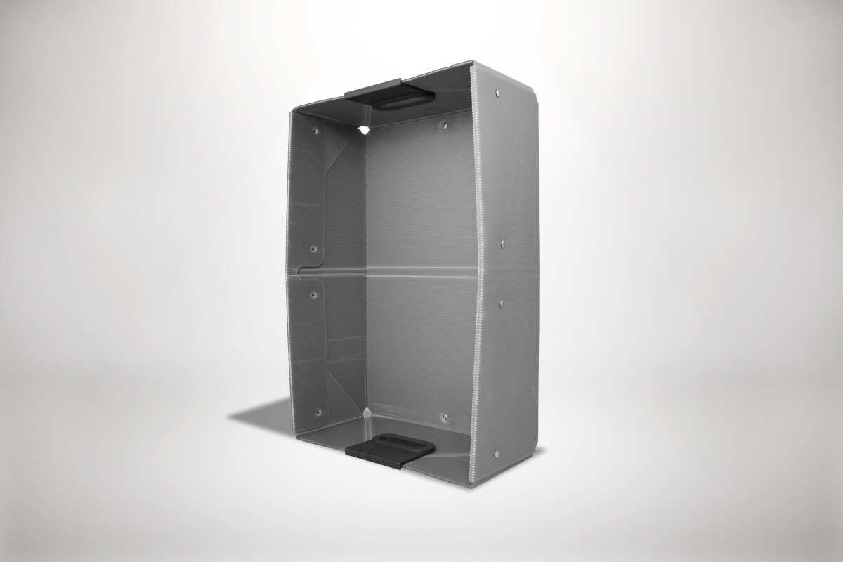 Graue Quickboxx Faltbox Klappbox Transportbox Tragebox